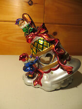 Christmas Around the World Candle Holder ~ New  (Elves/Bell)