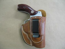Smith & Wesson Airweight 38 Leather IWB Concealment Carry Holster CCW TAN RH