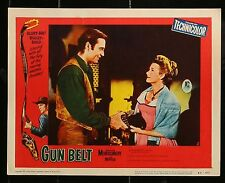 "GUN BELT George Montgomery WESTERN Original 1953 MOVIE LOBBY CARD PHOTO 11"" x 14"