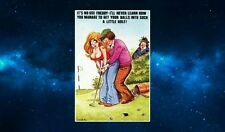 Classic saucy Postcard (Golf) Fridge Magnet NEW. British Humour