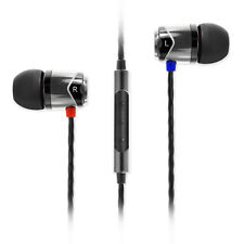 SoundMAGIC E10C In Ear Isolating Earphones with Mic Black & Silver - Refurbished