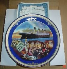 Bradford Exchange Collectors Plate THE SMOKING ROOM TITANIC