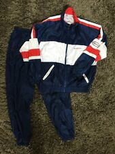 SERGIO TACCHINI VINTAGE TENNIS WARM UP JOGGING SUIT PANTS JACKET RARE Size L