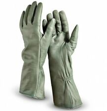 Small genuine soft leather military gloves, Pilot 3/4 length driving gloves