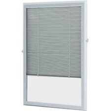 """22"""" x 36"""" Add On Blinds Enclosed Blinds White X Door Tilt Shade Protection UV"""