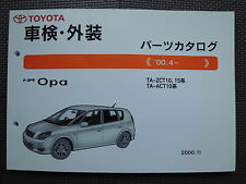 JDM TOYOTA OPA ZCT10 ZCT15 ACT10 Original Genuine Parts List Catalog