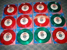 45 RPM  RARE ELTON JOHN GREEN/RED COLLECTABLES Complete Set Of 24 Records