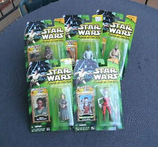 STAR WARS POWER OF THE JEDI - FIVE (5) Action Figures NIP - Copyright 2000