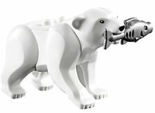 LEGO CITY MINIFIGURE WHITE POLAR BEAR WITH FISH ANIMAL ARTIC SNOW HUSKY 60036