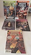 Set of 5 Star Wars with 3 Legacy and 2 Knights of the Old Republic Comic Book