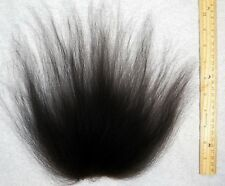 Troll Wig Doll Replacement Hair Mohair-Natural Black Wool Icelandic Sheepskin