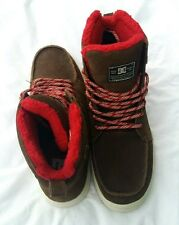 DC SHOES MENS WOODLAND BOOTS BROWN SUEDE 11 EUR 44.5 UK 10