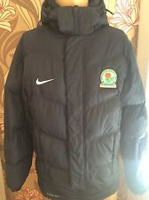 Official nike Blackburn Rovers Men's Puffer Padded S / M jacket Player Bench