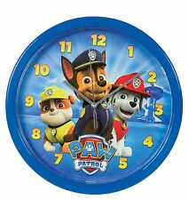 "OFFICIAL NEW 10"" BLUE PAW PATROL SKYE WALL CLOCK CHILDRENS CLOCK BEDROOM CLOCK"
