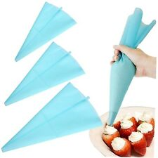 30cm Silicone Reusable Icing Piping Cream Pastry Bag Cake Decorating Tool DIY G~