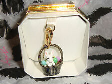 New Juicy Couture Bunny in Easter Basket Charm For Bracelet Necklace Handbag