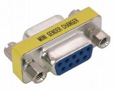Gender Changer 9 Pin Hembra A F Serial Rs232 Adaptador