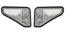 02-08 Honda Element Clear Bumper Fender Side Marker Lights w/ Black Trim PAIR
