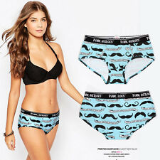 Blue XL Women Sexy Soft Lingerie Boxer Brief Hipster Underwear Panties Underpant