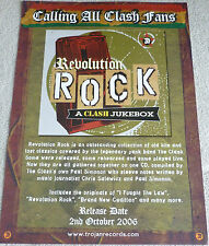 The Clash - Revolution Rock a Clash Jukebox   PROMOTIONAL MUSIC POSTER