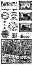Graphic45 CITYSCAPES #2 Cling Stamps Set of (13) scrapbooking VINTAGE TRAVEL