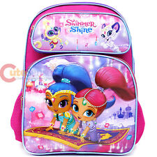 Shimmer and Shine School Backpack 16in Large Nick Girls Book Bag - Flying