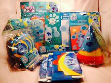Blues Clues Complete Party Hats Treat Boxes Blow Outs Stickers Game Centerpiece