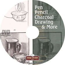 Pen, Pencil Charcoal Drawing  {How To Draw Sketch Oil Paint Water Colors} on DVD