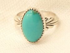 Estate Native American Sterling Silver De Chelly  Navajo Turquoise Ring
