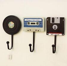 Resin Clothes Hat Bag Hanger Hook Wall Mounted Tape Vinyl Record Disk Home Decor
