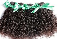 100% Real Malaysian/Brazilian/Peruvian Kinky Curly Virgin Human Hair Weave 100g