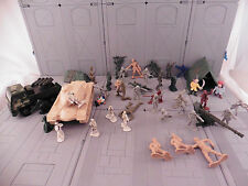 ARMY MEN LOT used  military combat soldier plastic toy  8888888