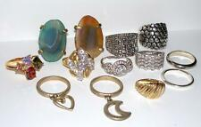 Ring Lot Designer Quality Rings Lia Sophia Rhinestones Art Deco Cocktail Costume