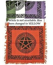 "Set of Four Pentacle Altar Cloths 18 x 18"" Wiccan Pagan Altar Supply #SCV22"