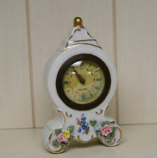 Vintage Mercedes Porcelain Wind Up Clock