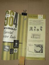 Prospectus Outils spéciaux Tools Chevrolet Auto 1964 car outillage KENT MOORE