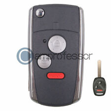 2+1 Button Conversion Flip Remote Key Shell Fob for Honda Civic Ridgeline Fit