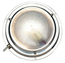 Two Color 4 Inch Stainless Steel Surface Mount Dome Cabin Light for Boats