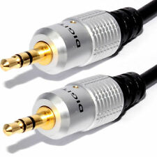 15m Jack Plug To Male Plug 3.5mm Audio HQ Cable For Car Mp3 Aux Headphone iPod
