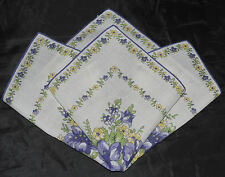 vintage handkerchief OLD FASHIONED HANKY sunny CHEERFUL sweet old thing CHARMER