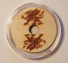 Welsh Dragon engraved Turn table 45 RPM adaptor for center spindle