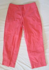 TALBOTS Stretch cotton Salmon capri pants front zip+drawstring 4 FREE SHIP Nice