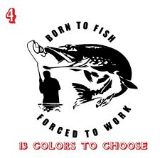 Pike Fishing Vinyl Stickers decals,car,window,van, Laptop Graphic (REF NO 4)