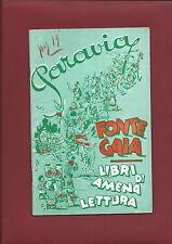 Catalogo Illustrato Paravia Torino Fonte Gaia - Libri di Amena Lettura 1947