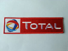 MOTORSPORTS RACING TYRE SEW ON / IRON ON PATCH:- TOTAL (a) FUELS RED STRIPE