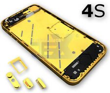 GOLD Midplate Midframe Mid Frame Bezel Chassis For iPhone 4S/4GS with Buttons