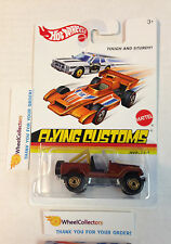 Hot Wheels Flying Customs * Jeep CJ-7 Brown * Hard Find * h18