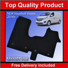 NEW VAUXHALL VIVARO 2014  LUXURY THICKER CARPET MATS BLACK TAILORED FRONT MAT