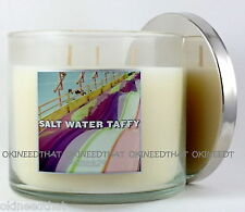 Bath Body Works Salt Water Taffy candle 3 wick 14.5 oz Slatkin strawberry cherry