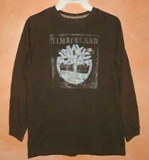 Timberland Long Sleeve Brown Shirt - Boys Size Large 16-18